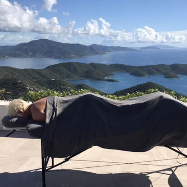 Swedish massage at a St John villa overlooking Coral Bay
